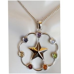 Genuine Gems Healing Star Chakra Necklace
